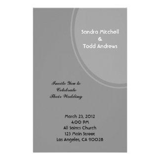 Simple Grey Modern Wedding Custom Stationery