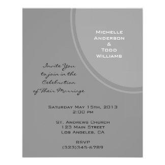 Simple Grey Modern Wedding Flyer
