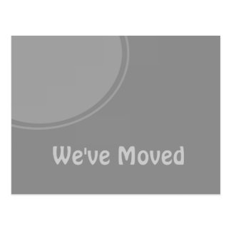 Simple Grey moving announcement Postcard