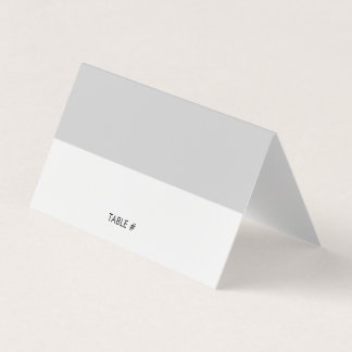 Simple grey place cards - folded