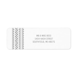 Simple Grey Stitch Christmas Holiday Label