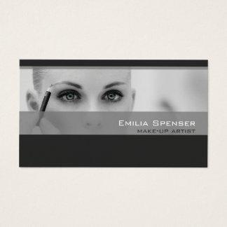 Simple Grey Tones Make-up Artist Profile Card