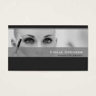 Simple Grey Tones Make-up Artist Profile Card