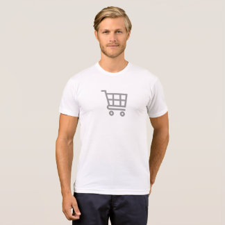 Simple Grocery Cart Icon Shirt