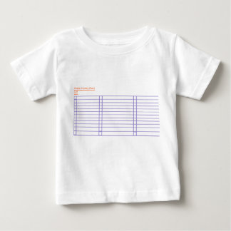Simple Grocery Check List Baby T-Shirt