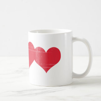 Simple Grunge Hearts Coffee Mug