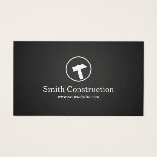 Simple Hammer icon Construction Business Card