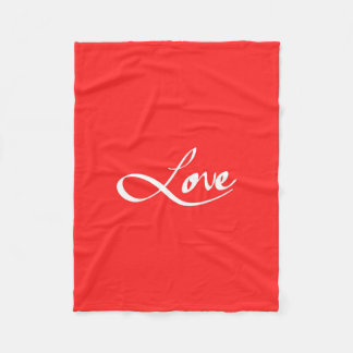 "Simple Hand Drawn ""Love"" Typography Fleece Blanket"