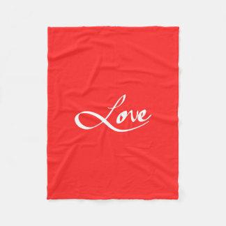 "Simple Hand Drawn ""Love"" Typography Fleece Blanket"