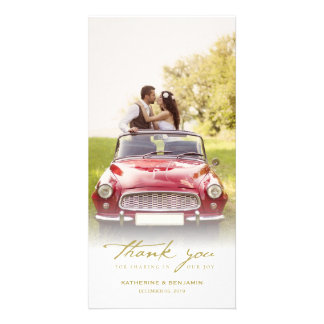 Simple Handwrite Script Classy Wedding Thank You Photo Cards