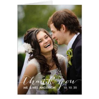 Simple Handwriting | Wedding Photo Thank You Card