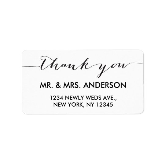 Simple Handwriting Wedding Thank You