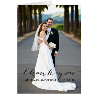 Simple Handwriting Wedding Thank You Card