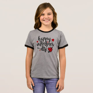 Simple Happy Valentine's Day Ringer Shirt