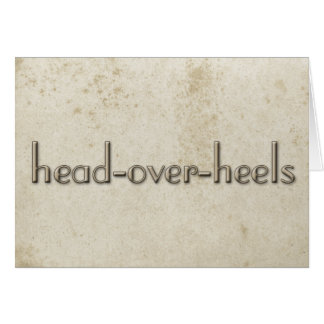 Simple Head Over Heels Vintage Stained Paper Card