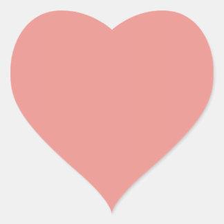Simple Heart Blush Pink Modern Contemporary Heart Sticker