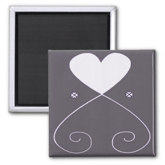 Simple Heart Magnet Gray