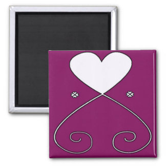Simple Heart Magnet Magenta