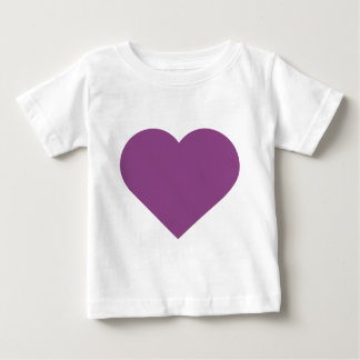 Simple Heart Plum Purple Modern Contemporary Baby T-Shirt