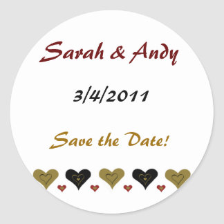 Simple Heart Wedding Stickers