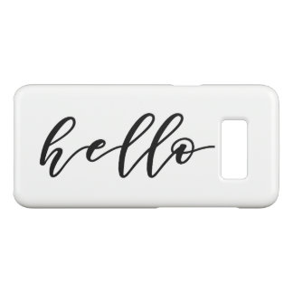 Simple Hello Design in Beautiful Typography Script Case-Mate Samsung Galaxy S8 Case