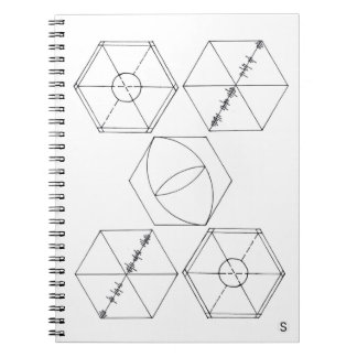 Simple Hexagons Spiral Notebook