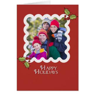 SIMPLE HOLLY CHRISTMAS CARD 5x7 Template