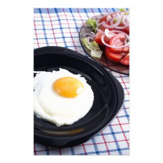 Simple homemade breakfast  from natural products stationery paper