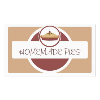 Simple homemade pies brown beige business cards