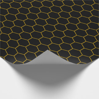 Simple honeycomb pattern with dark background wrapping paper
