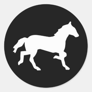 simple horse round sticker