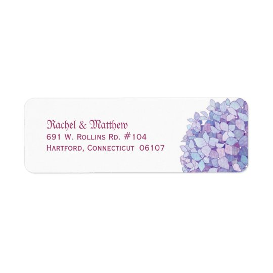 Simple Hydrangea Wedding Return Address Labels