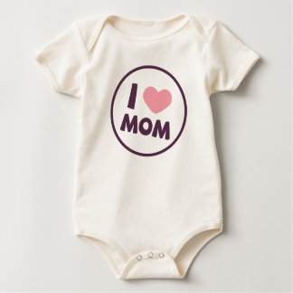 Simple I Love Mom Mother's Day | Bodysuit