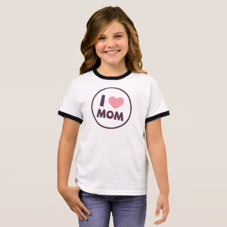 Simple I Love Mom Mother's Day | Ringer Shirt