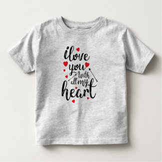 Simple I Love You All My Heart Valentine | Shirt