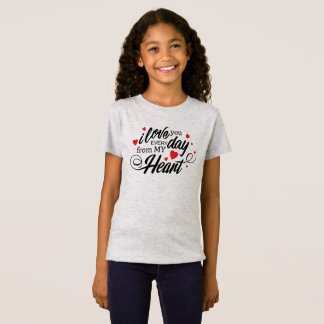 Simple I Love You Everyday Valentine Jersey Shirt