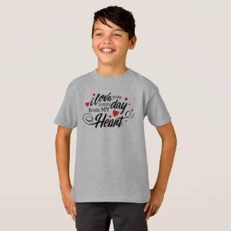 Simple I Love You Everyday Valentine Tagless Shirt