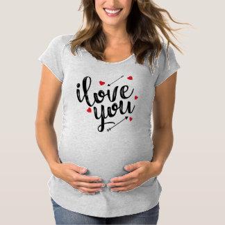 Simple I Love You Maternity Shirt