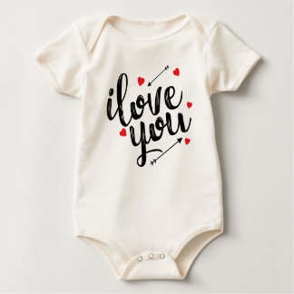 Simple I Love You Valentine | Bodysuit