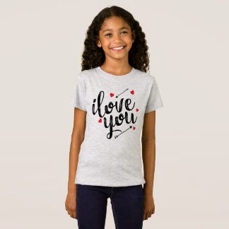 Simple I Love You Valentine Jersey Shirt