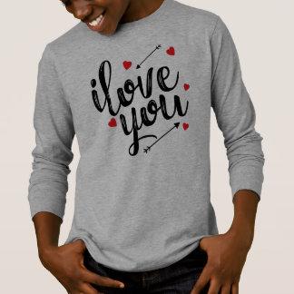 Simple I Love You Valentine Sleeve Shirt