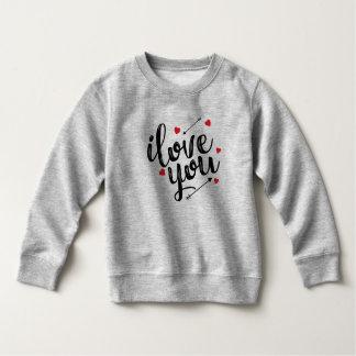 Simple I Love You Valentine   Sweatshirt
