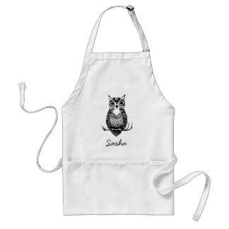 Simple Illustrated Owl Standard Apron