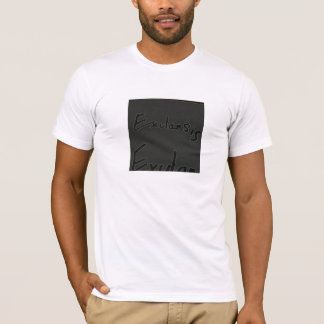 simple indie t-shirt with word detail