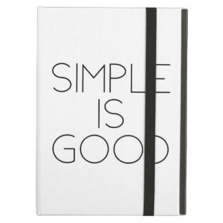 Simple is good iPad air case