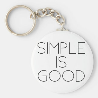 Simple is good keychain