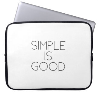 Simple is good laptop sleeve