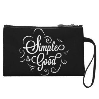 Simple is good motivational life quote wristlet