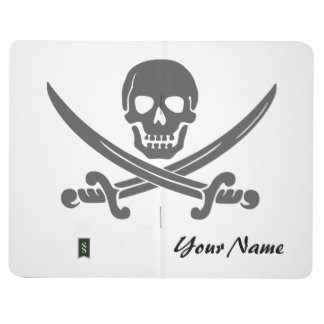 Simple Jolly Roger with Your Custom Text Journal