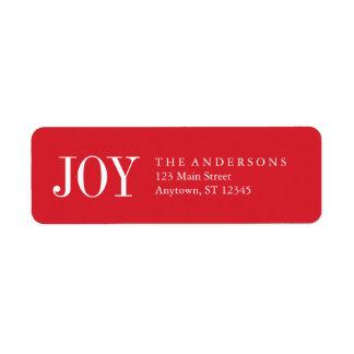 Simple Joy Holiday Address Labels